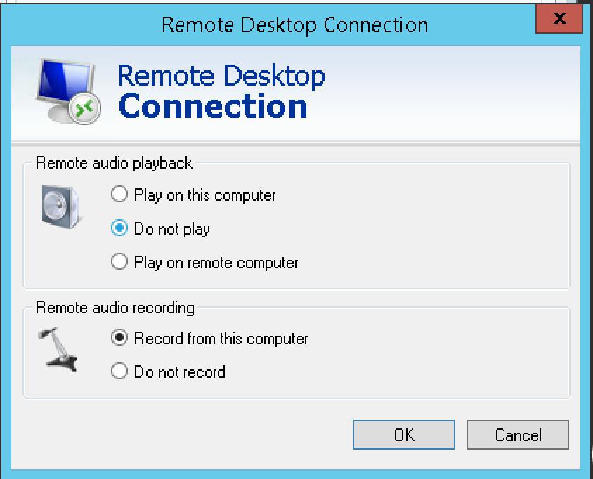 RDP Audio Settings