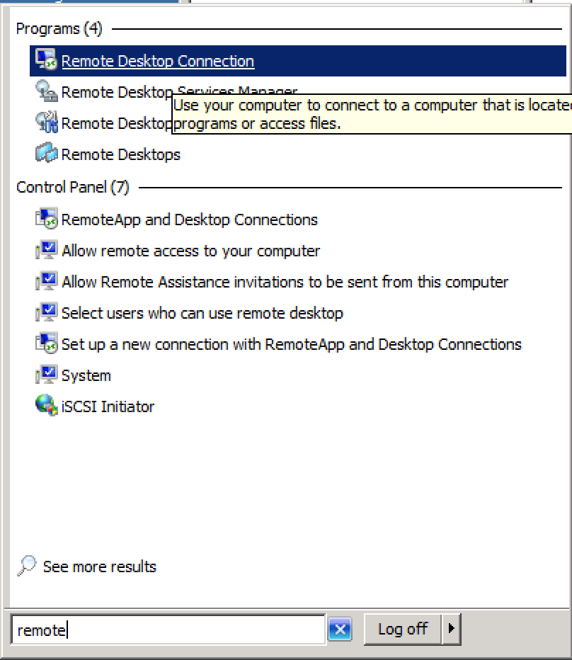 how to open remote desktop client