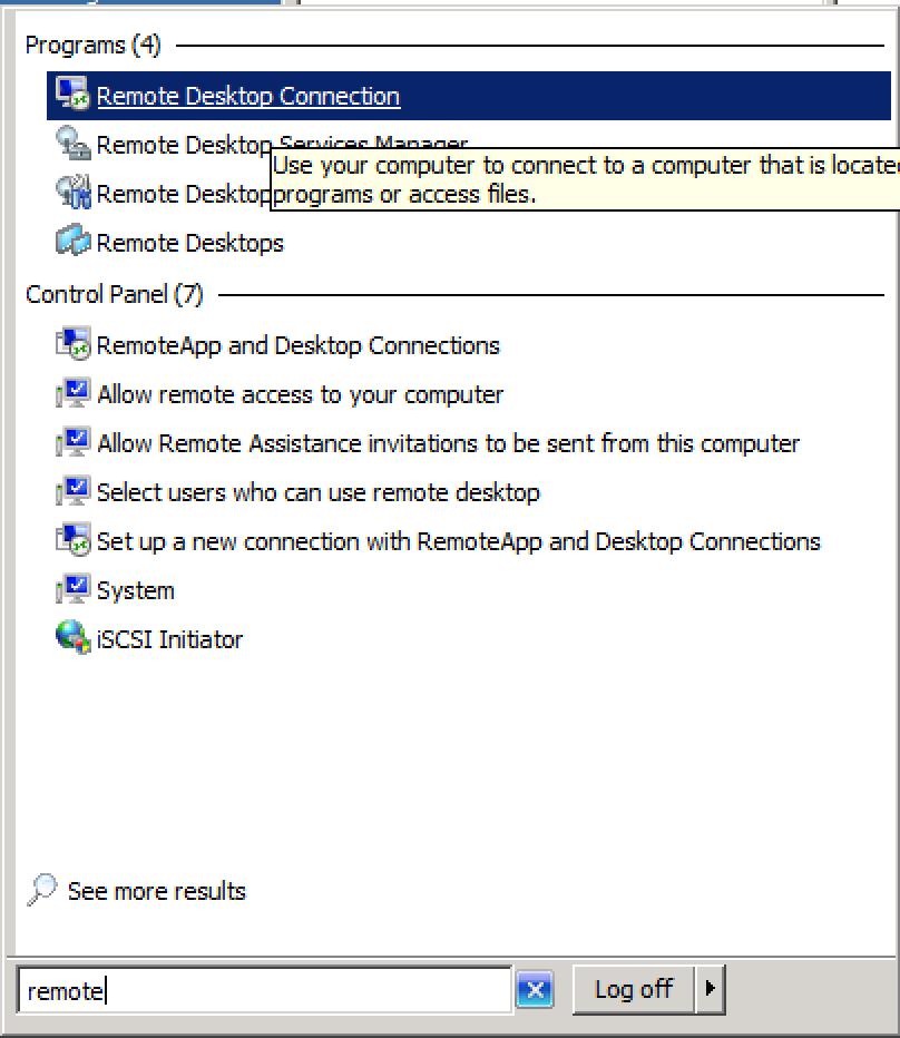 how to open remote desktop client